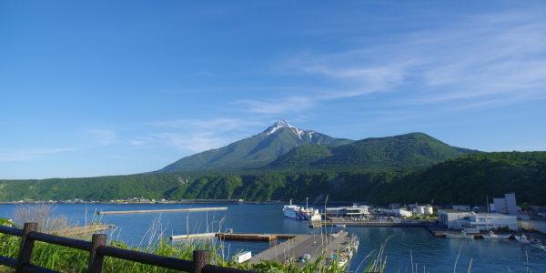 ペシ岬展望台頂上へ向かう途中の景色
